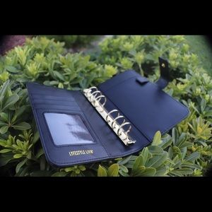 Other - A6 Black leather binder cover